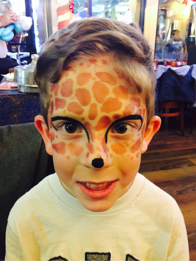 Giraffe Face Paint Ideas